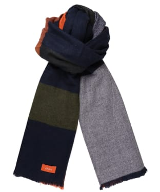 Women's Joules Berkley Scarf - Navy Check