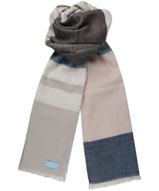 Women's Joules Berkley Scarf - Light Blue Check