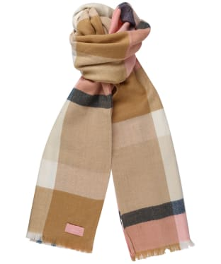 Women's Joules Berkley Scarf - Tan Check