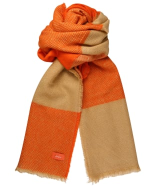 Women's Joules Meadow Scarf - Orange Check
