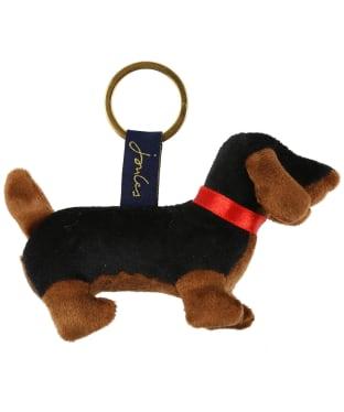 Women's Joules Charmwell Velvet Keyring - Black Dog