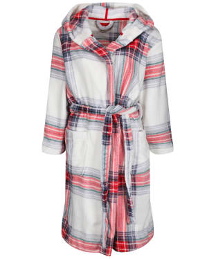 Women's Joules Rita Fluffy Dressing Gown - Creme Check