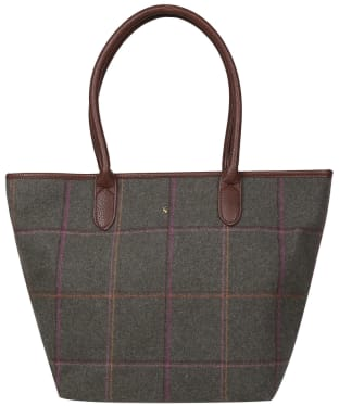 Women's Joules Fernwell Tweed Large Tote Bag - Dark Green Grid Tweed