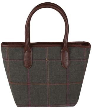 Women's Joules Carey Tweed Grab Bag - Dark Green Grid Tweed