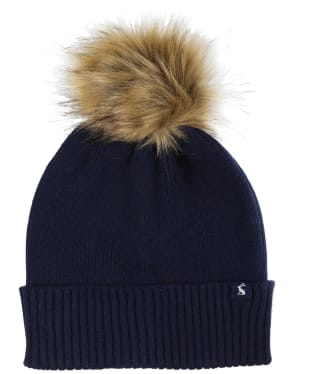Women's Joules Snowday Beanie Hat - French Navy