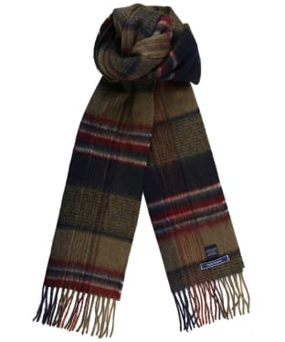Men's Joules Tytherton Scarf - Green Check