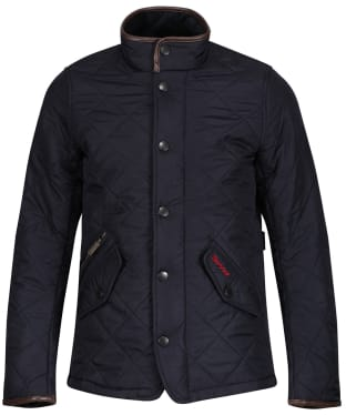 Boy's Barbour Powell Quilted Jacket, 10-15yrs - Navy