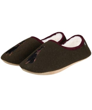 Women's Joules Slippet Character Mule Slippers - Black Dog
