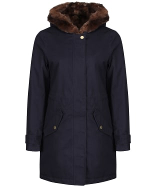Women's Joules Piper Parka Jacket - Marine Navy