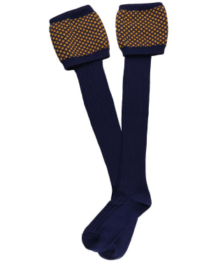 Men's Laksen Empire Shooting Socks - Navy / Gorse