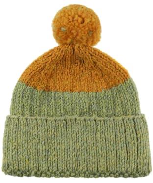 Men's Edmund Hillary Block Bobble Hat - Mustard / Catkin