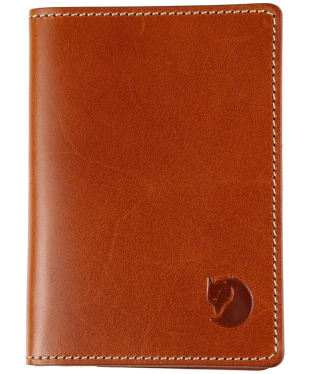 Fjallraven Leather Passport Cover - Leather Cognac