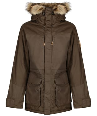 Men's Fjallraven Barents Waterproof Parka - Dark Olive