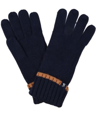 Women's Joules Snowday Knitted Gloves - French Navy