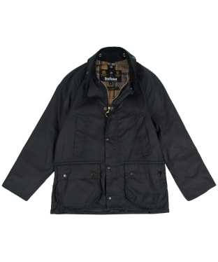 Boy's Barbour Classic Bedale Waxed Jacket, 10-15yrs - New Navy