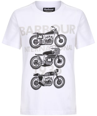 Boy's Barbour International Tri Bike Tee, 6-9yrs - White