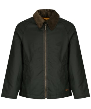 Boy's Barbour Winter Munro Waxed Jacket, 2-9yrs - Sage