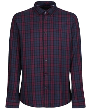 Men's Crew Clothing Blackwatch Slim Shirt - Dark Navy / Port Royale