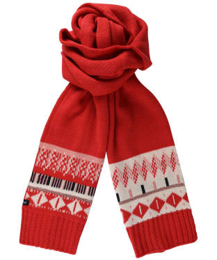 Women's Crew Clothing Fairisle Scarf - Pink