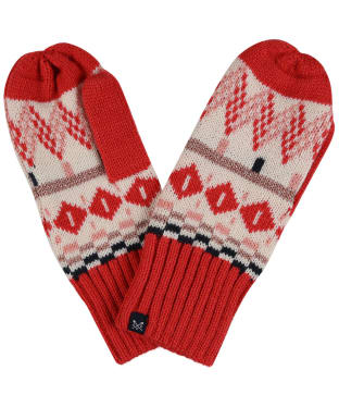 Women's Crew Clothing Fairisle Mitten - Pink