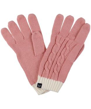 Women's Crew Clothing Ellesmere Gloves - Pink