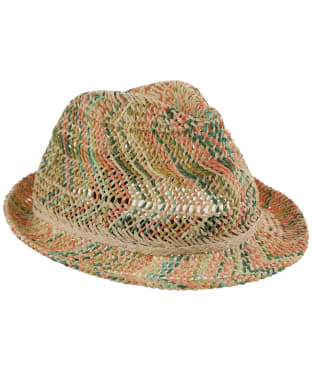 Girls Barbour British Waterways Straw Trilby - Natural