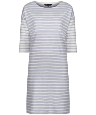 Women's Crew Clothing Breton Dress - Grey / White Stripe