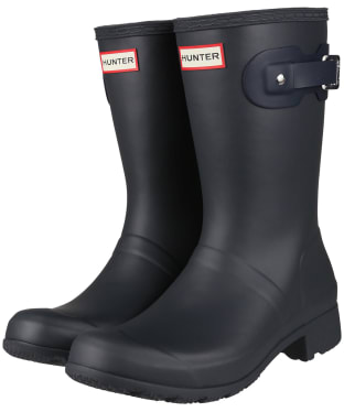 Women's Hunter Original Tour Short Wellington Boots - DARK SLATE/NAVY