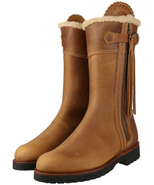 Women's Penelope Chilvers Midcalf Tassel Lined Boots - Biscuit