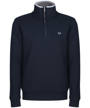 Men's Crew Clothing Classic Half Zip Sweat - Navy