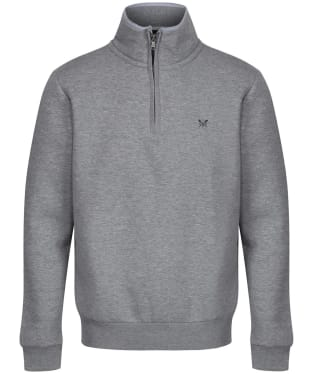 Men's Crew Clothing Classic Half Zip Sweatshirt - Grey Marl