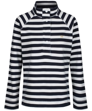 Women's Crew Clothing Lightweight Padstow Pique Sweatshirt - Navy / White