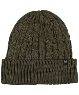 Men's Crew Clothing Wool Blend Cable Hat - Peat Marl