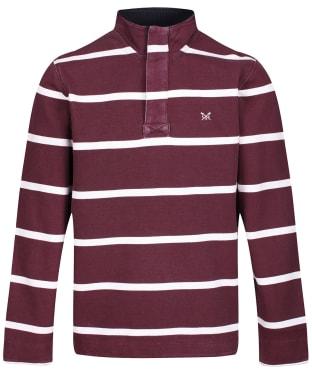 Men's Crew Clothing Padstow Pique Sweatshirt - PORT ROYALE/WHT