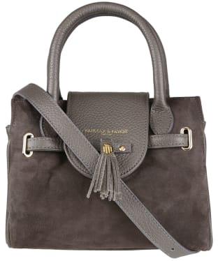 Women's Fairfax & Favor Mini Windsor Handbag - Grey Suede