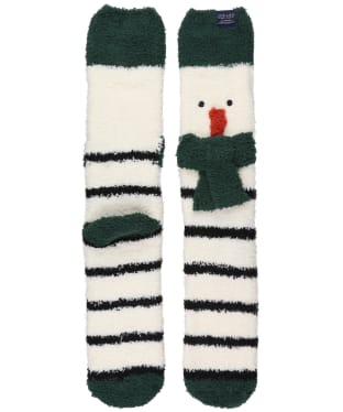 Men's Joules Festive Fluffy Socks - Cream Snow Man
