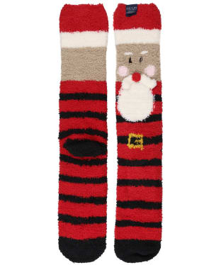 Men's Joules Festive Fluffy Socks - Red Santa