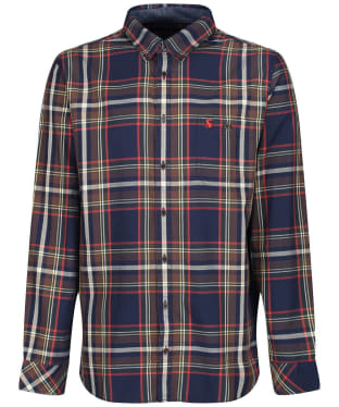 Men's Joules Hewitt Classic Shirt - Navy / Orange Check