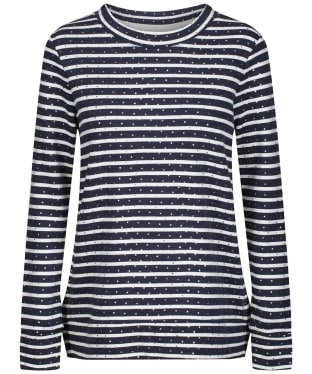 Women's Joules Presley Zip Side Sweatshirt - Gold Stripe Spot