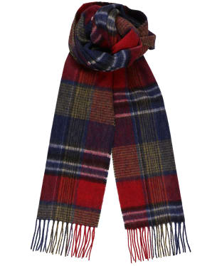 Men's Joules Tytherton Scarf - Red / Navy Check