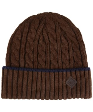 Men's Joules Thornby Cable Knit Hat - Brown