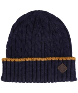 Men's Joules Thornby Cable Knit Hat - Midnight