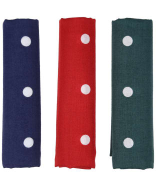 Men's Barbour Spotted Handkerchiefs - Boxed Set of Three