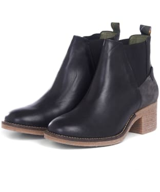 Women's Barbour Keren Leather Ankle Boots - Black