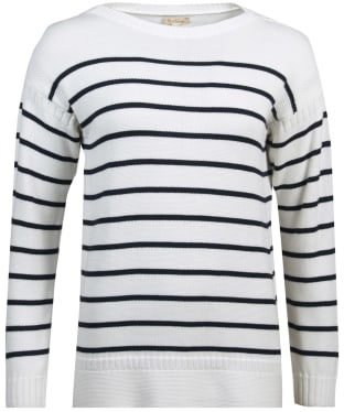 Women's Barbour Stripe Guernsey Knit Sweater - Cloud