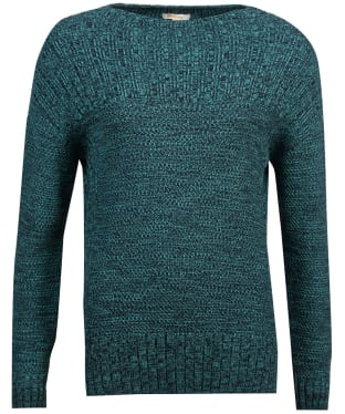 Women's Barbour Stitch Guernsey Knit Sweater - Turtle Green