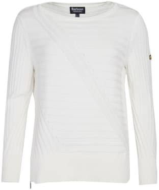 Women's Barbour International Relay Knit - Off White