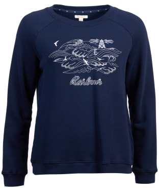 Women's Barbour Shoreside Sweatshirt - Navy