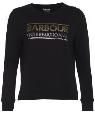 Women's Barbour International Relay Sweatshirt - Black