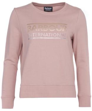 Women's Barbour International Relay Sweatshirt - Blusher